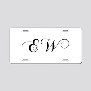 EW-cho black Aluminum License Plate