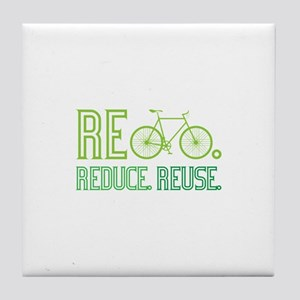 Reduce Reuse Re Bicycle Tile Coaster