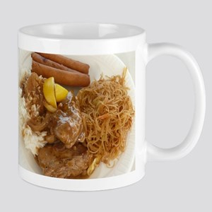 Filipino chicken adobo,lumpia and pancit meal Mugs