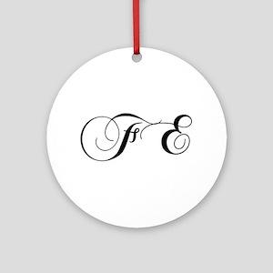 FE-cho black Ornament (Round)