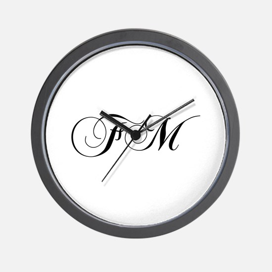 FM-cho black Wall Clock