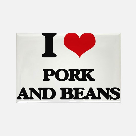 pork and beans Magnets