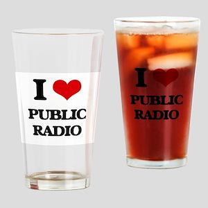 public radio Drinking Glass