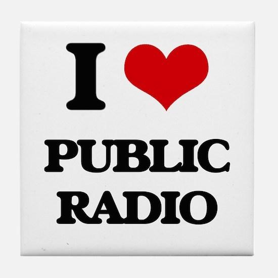 public radio Tile Coaster