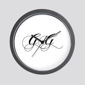 GG-cho black Wall Clock