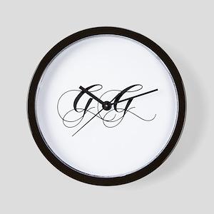 GG-cho black Wall Clock