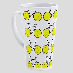 Happy Bikes 17 oz Latte Mug