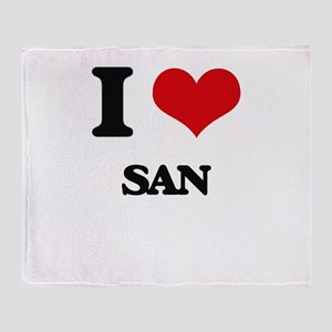san Throw Blanket