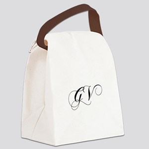GV-cho black Canvas Lunch Bag