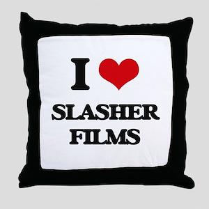 slasher films Throw Pillow