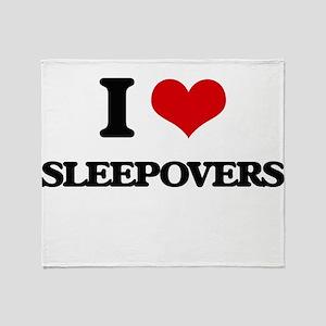 sleepovers Throw Blanket