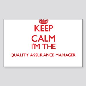 Keep calm I'm the Quality Assurance Manage Sticker