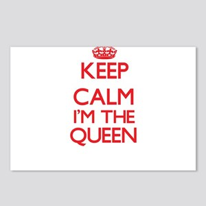 Keep calm I'm the Queen Postcards (Package of 8)