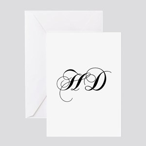 HD-cho black Greeting Cards