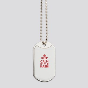 Keep calm I'm the Rabbi Dog Tags