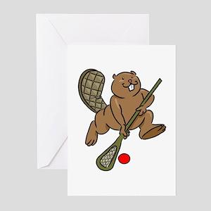 Lacrosse Beaver Greeting Cards (Pk of 10)
