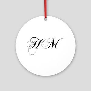 HM-cho black Ornament (Round)