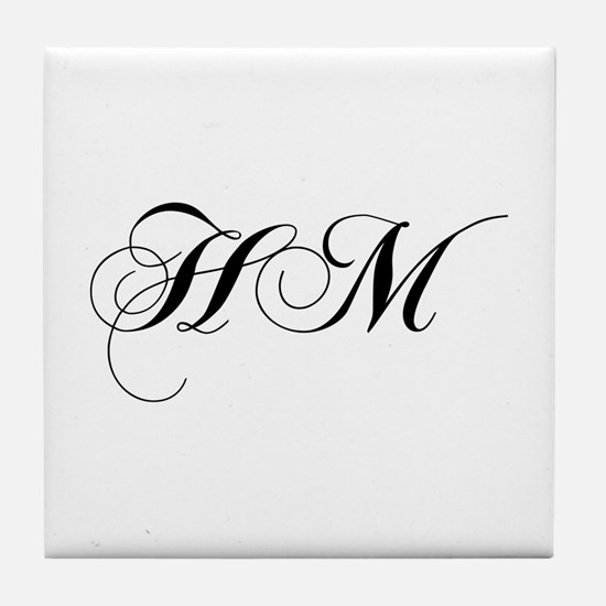 HM-cho black Tile Coaster