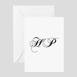 Hp initials stationery cafepress hp cho black greeting cards m4hsunfo