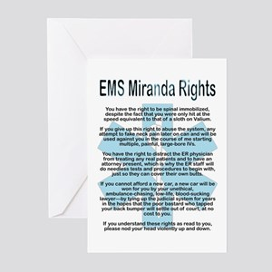 EMS Miranda Rights Greeting Cards (Pk of 10)