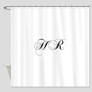 HR-cho black Shower Curtain