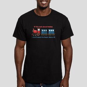 Train Talk Men's Fitted T-Shirt (dark)