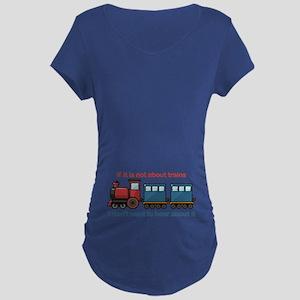 Train Talk Maternity Dark T-Shirt