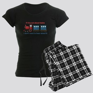 Train Talk Women's Dark Pajamas