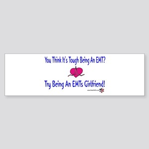 EMTs Girlfriend Bumper Sticker
