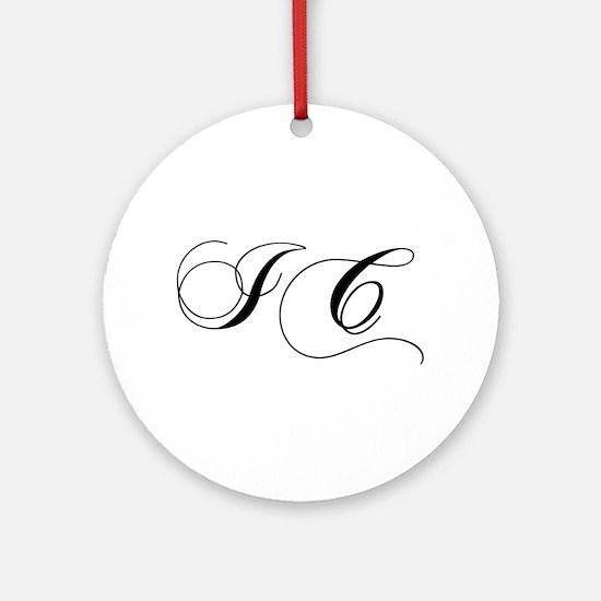 IC-cho black Ornament (Round)