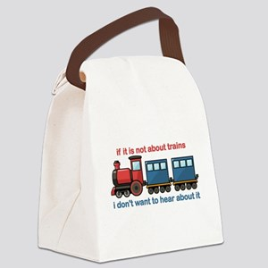 Train Talk Canvas Lunch Bag