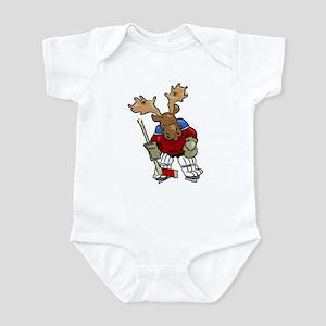 Moose Playing Hockey Infant Creeper