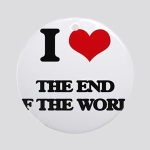 the end of the world Ornament (Round)