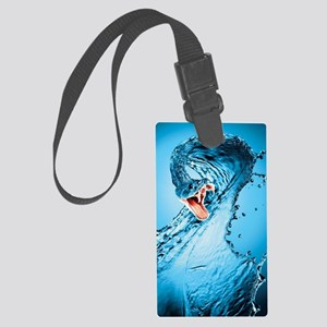 Water Snake Graphic Illustration Large Luggage Tag