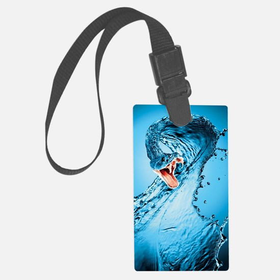 Water Snake Graphic Illustration Luggage Tag