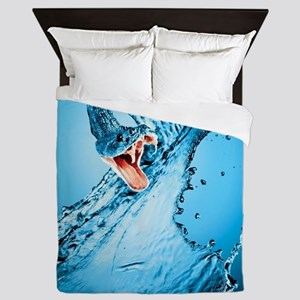 Water Snake Graphic Illustration Queen Duvet