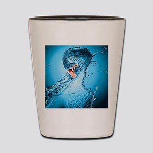 Water Snake Graphic Illustration Shot Glass