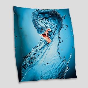 Water Snake Graphic Illustrati Burlap Throw Pillow