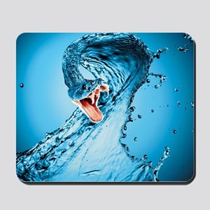 Water Snake Graphic Illustration Mousepad