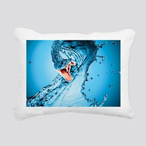 Water Snake Graphic Illu Rectangular Canvas Pillow
