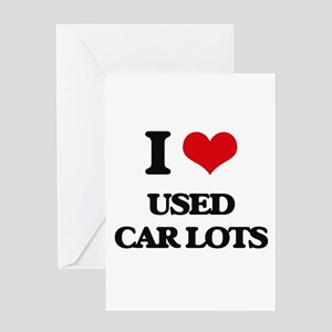used car lots Greeting Cards
