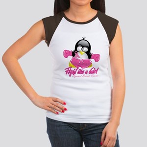 BC Fighting Penguin Women's Cap Sleeve T-Shirt