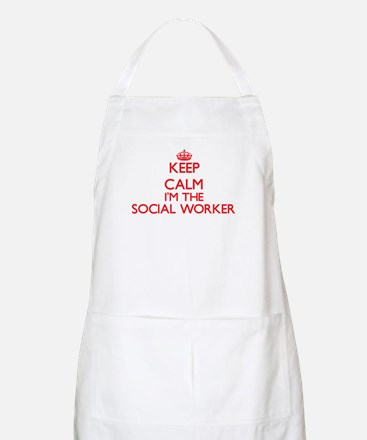 Keep calm I'm the Social Worker Apron