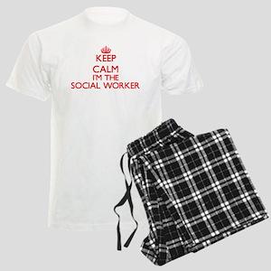 Keep calm I'm the Social Work Men's Light Pajamas