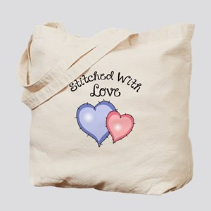 STITCHED WITH LOVE Tote Bag