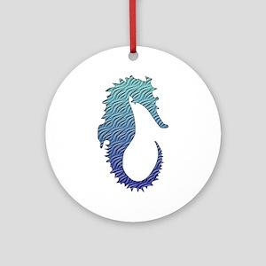 Wave Seahorse Ornament (Round)
