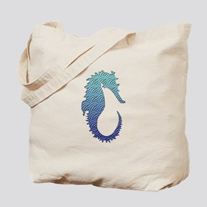 Wave Seahorse Tote Bag