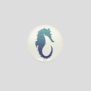 Wave Seahorse Mini Button