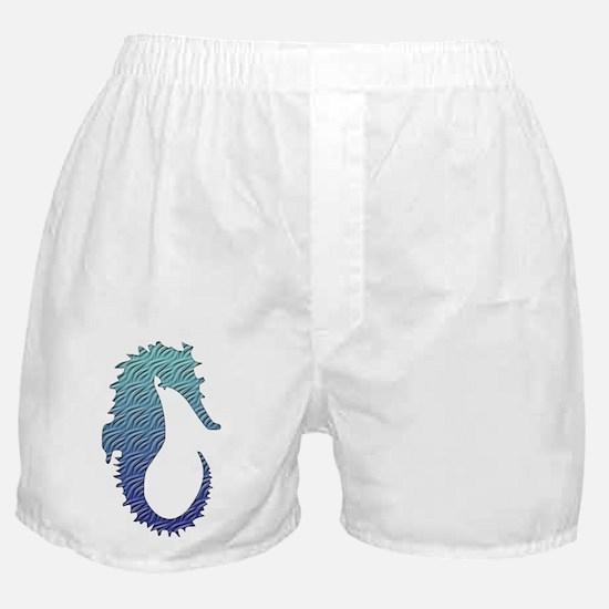 Wave Seahorse Boxer Shorts
