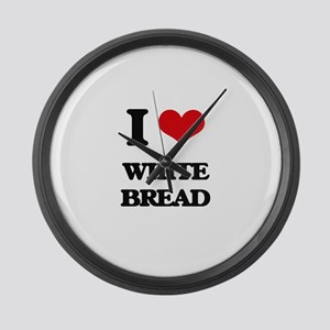white bread Large Wall Clock